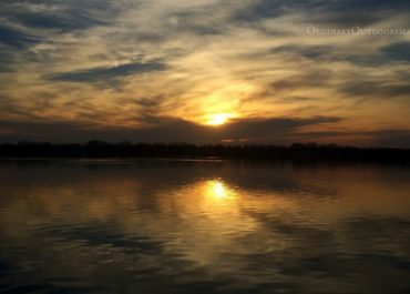 """photo of a lake at sunset with the caption, """"5 steps to prepare for the fishing season"""