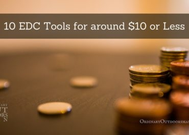 "image of coins with the title, ""10 EDC tools for around $10 or less"""