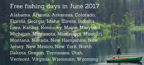 Free fishing days in June 2017