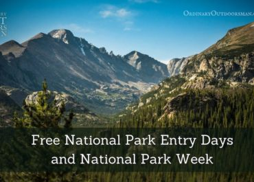 photo of Long's Peak with the words, 'Free national park entry days and national park week.'